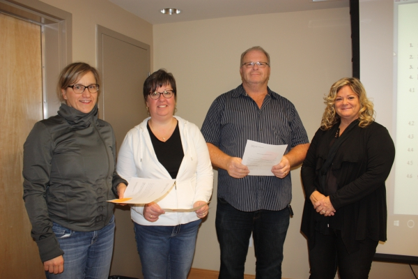 New board members and component president take oath of office