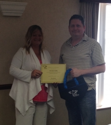 Several New Brunswick Union members recently completed the Advanced Union Activists course. They were presented with a certificate by NBU President Susie Proulx-Daigle. In the photo from left are Proulx-Daigle and Harrison Duffley.
